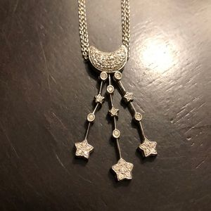 Jewelry - ⭐️ 🌙 moon & stars 14kt white gold necklace ⭐️ 🌙